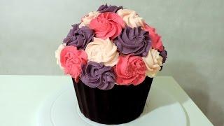 Cupcake Géant (bouquet de fleurs)