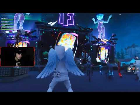 Cizzorz live reaction to the marshmello event in fortnite