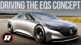 Driving the lovely Mercedes-Benz Vision EQS concept in Japan by Roadshow