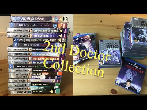DOCTOR WHO 2nd DOCTOR DVD BLU RAY COLLECTION.
