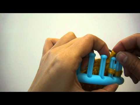 """Knitting Loom (Strickring) – """"Abstricken"""" (Video ist auch für Serenity Loom geeignet)"""