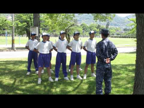 広島市立中広中学校 職場体験学習 自衛隊