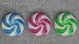 Video Learn How to Crochet - Spiral Scrubbie Tutorial (Dishcloth Washcloth Tribble Tawashi Scrubby) MP3, 3GP, MP4, WEBM, AVI, FLV Juli 2018