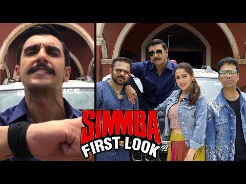 SIMMBA First Look Out | Ranveer Singh Sara Ali Kha