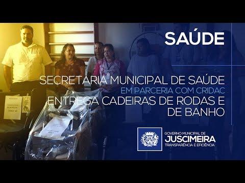A SECRETARIA DE SAÚDE EM PARCERIA COM O CRIDAC ENTREGA CADEIRAS DE RODAS E DE BANHO