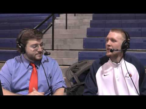 henegar - Carson-Newman forward Cody Henegar visits with the 