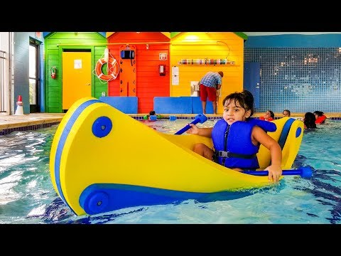 Water Park For Kids With Boat And Water Toy Games - ZMTW