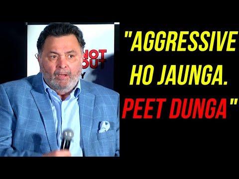 Rishi Kapoor SHOCKING Reaction To Reporter During