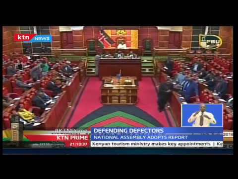 MP's move a motion to defend Political Party defectors on party hoping