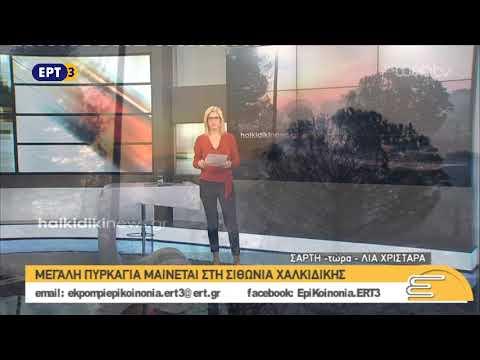 Mεγάλη πυρκαγιά μαίνεται στη Σιθωνία Χαλκιδικής – Σύνδεση με Λία Χρηστάρα | 25/10/2018 | ΕΡΤ