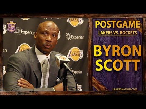 Scott - Lakers head coach Byron Scott reacts to Julius Randle's fractured tibia and small scuffle between Kobe and Dwight Howard. Join the Largest Lakers Fan Site in the World http://LakersNation.com...