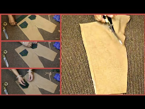Trouser Cutting Tutorial - Easy Cutting Method Step By Step