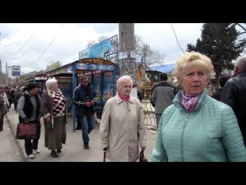 Снос ларьков возле рынка в Симферополе