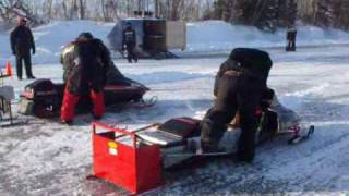 10. badass 650 polaris mod drag race on ice hot sled.wmv