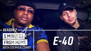 E-40 Teaches Stephen Curry New Bay Area Slang | 5 Minutes from Home