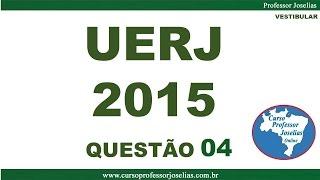 QUESTÃO 04 – VESTIBULAR UERJ 2015 - MATEMÁTICA – FASE 1 - RESOLVIDA. Inscreva-se no canal do Professor Joselias. 4) (UERJ 2015) Na tabela ...
