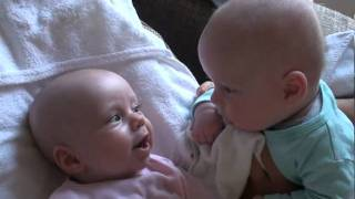 Twins Are Having Some Serious Secret Talk