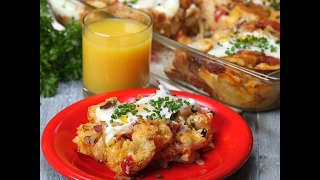 This Bacon, Tomato & Cheddar Breakfast Bake with Eggs is a breakfast of champions that can feed a small army (or any weekend...