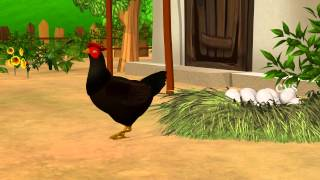 Hickety pickety my black hen - 3D Animaton Nursery rhymes for children with lyrics
