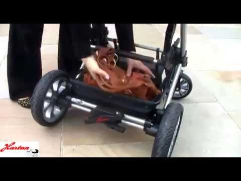 Универсальная коляска HARTAN VIP XL, синяя (клетке)