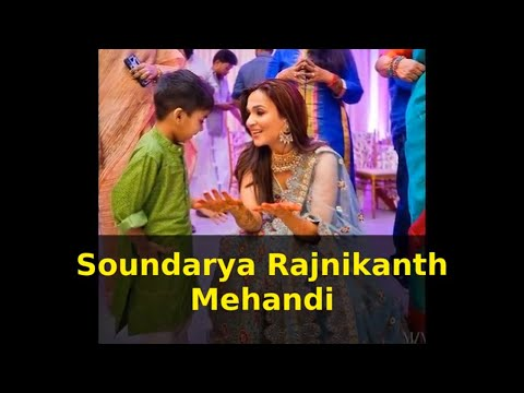 Soundarya Rajnikanth with her son VED at her Mehandi | Exclusive