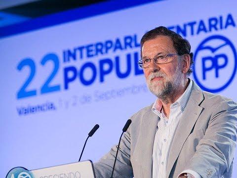 Mariano Rajoy clausura la 22 Interparlamentaria Popular