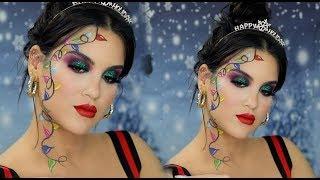 Festive AF Christmas Lights Makeup Look   Nicole Guerriero by Nicole Guerriero