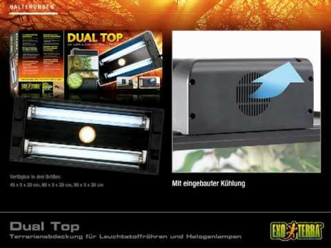 EXO TERRA  Dual Top - Terrarienabdeckung für Leuchtstoffröhren und Halogenlampen