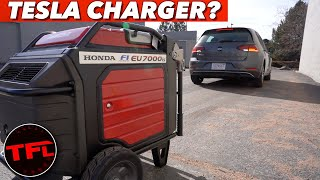Can You Charge An Electric Car With This BIG Generator? (Part 1 of 3) by The Fast Lane Car