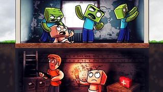 Minecraft | Who's Your Daddy? How to Survive a Zombie Apocalypse! (Zombie Bunker)