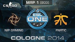 NiP Gaming vs. Fnatic (Map 1) - ESL One Cologne 2014 - Grand Final - CS:GO