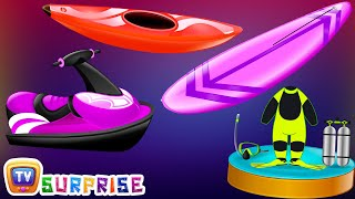 Surprise Eggs Nursery Rhymes Toys  Three Little Kittens  Learn Colors & Water Sports  Cutians  ChuChu TV