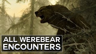 Maybe even werebearsharks, with whale-like tendencies?..  Here, I list All Werebear Encounters in Skyrim.  Depending on your personality, and what the weather might be like, these could be the hardest enemy you ever face.  I also do other Top 5s, like Skyrim secrets.  There are secret locations, even secret enemies and quests to be found.  Which usually lead to weird theories, amirite?Since I'm on PC, I love the Skyrim new mods.  There are quest mods and follower mods that are very juicy.  They make creating new character builds, and looking for rare and weird encounters, or maybe the hardest boss out there, or even stumbling on mysterious deaths a lot more fun.Please like, comment, and subscribe, and if you want to talk, my other social media is below : )https://www.instagram.com/graenolfhttps://www.facebook.com/graenolf
