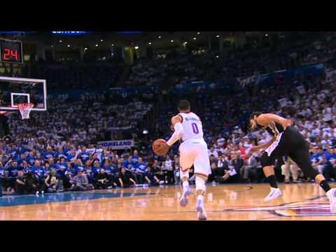 Video: Russell Westbrook Picks Parker's Pocket for the Nasty Smash