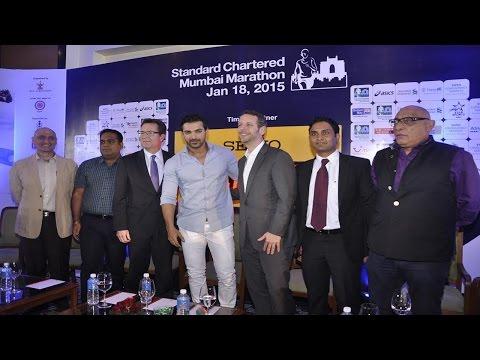 Standard Chartered Mumbai Marathon 2015 With John Abraham