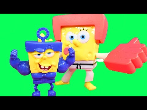 Spongebob Squarepants Sponge out of Water Pop-A-Part Spongebob & Karate Chopper Action Spongebob