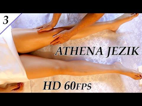 Leg & Thigh Swedish Massage Techniques – ASMR Athena Jezik Full Body Series 3 of 7 HD 60P
