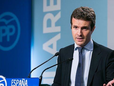 """Pablo Casado: """"El Gobierno sigue adelante con tran..."""