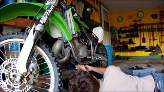 3. How to change 2004 Kawasaki KX125 Transmission Oil