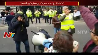 People Protest & Go Back Slogans Against PM Modi Over Asifa Bano Case In London