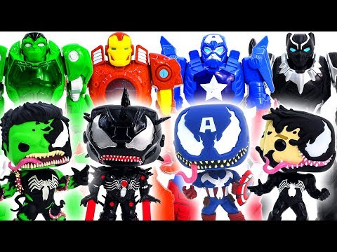 Mainan Marvel Super Hero Squad Super Hero Mech Armor Kalahkan Symbiote Avengers Venomized