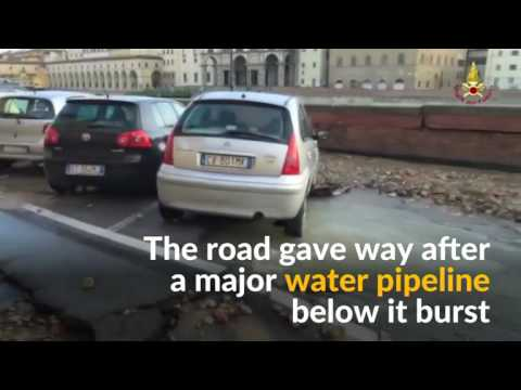 Italy road collapses, sending cars plunging