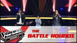 "Video Celine & Ikhlas & Samuel ""Hold My Hand"" | Battle Rounds | The Voice Kids Indonesia Season 2 GTV 2017 MP3, 3GP, MP4, WEBM, AVI, FLV Juli 2018"