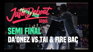 Daonez vs Tai & Fire Bac – JUSTE DEBOUT 2019 SEOUL Popping Semi Final