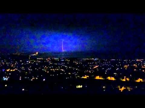 Thunderstorm with lightning over Pafos, 12/12/15 (видео)