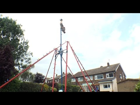 Crazy British Inventor Builds Giant 360  Swing