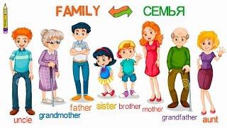 Family Семья.English for kids. Английский для детей