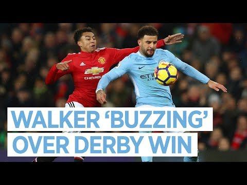 Video: I'M BUZZING | Derby Day Reaction | Kyle Walker | Utd 1-2 City