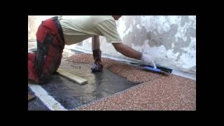steinteppich steinchenboden kieselbeschichtung verlegeanleitung trendfloor vidinfo. Black Bedroom Furniture Sets. Home Design Ideas