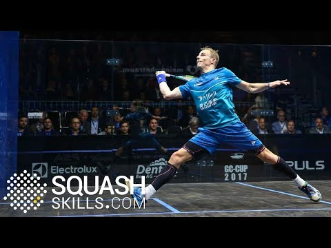 Squash tips: Jesse Engelbrecht on springing the trap when volleying!